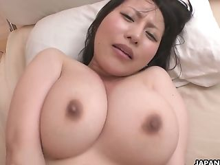 Ample Boobed Japanese Cougar Yuna Hoshizaki Gets Her Twat Fucked And Creampied