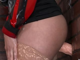 Clothed Bitch With Big Tits Gets Messy In The Glory Crevasse Room