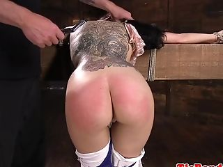 Gorgeous Sub Stunner Fisted By Male Domination