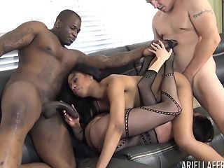 Ariella Ferrera And Her Friend Want To Fuck With Two Guys At Once