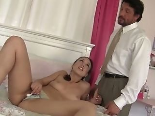 Horny Sweet Looking Teenage Puts Her Plans To Entice Her Stepfather Into Activity