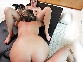 Kendra And Brooke Take Turns On A Chisel And Eat Each Others Twats