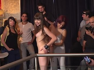 Black-haired Honey Luna Rival Humilliated In A Public Restraint Bondage Fuck Session