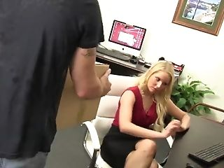 Vanessa Box Tempts Delivery Man