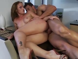 Caty Campbell Savagely Fucked On The Table
