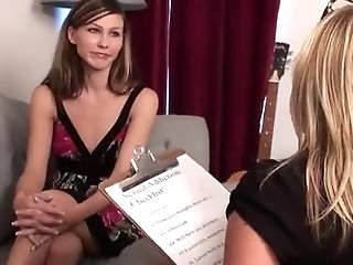 Trampy Blonde Lezzy Patient Entices Her Female Therapist
