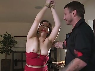 Perverted Servant Tying Bitch Kimber Forest Is Impatient To Treated Rough