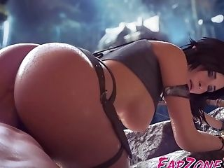 Sweet Lara Croft With Big Massive Butt Hard Fucked 3 Dimensional Compilation