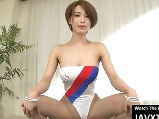Slender, Japanese Stunner Is Wearing A Swimsuit And Getting Hammered The Way She Always Wished