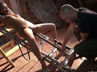 Restrain Bondage Ukrainian Whore Daphne Klyde Gets Her Humid Poon Masturbated Hard
