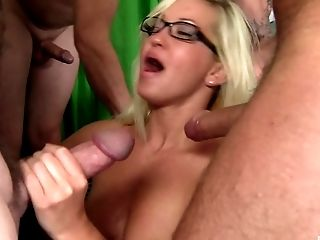 Natural Tits Blonde Withstanding Rough Group Sex In Closeup Seen