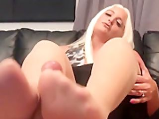 Macy Cartel Seals Deal With Pantyhose Footjob