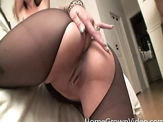 Tying Up Her Gf And Making Her Rail A Fuckfest Machine