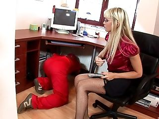Flawless Blonde Sits On The Tabouret And Gets Her Asshole Inserted Hard