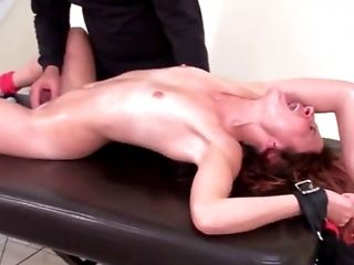 Kittling Orgasm In Restraint Bondage