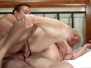 Abhorrent Fat Blondie Haired Matures Bitch Norma Is Fucked Hard