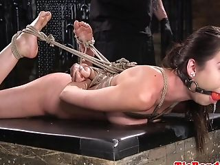 Lovely Subordinated Orgasms During Restraint Bondage