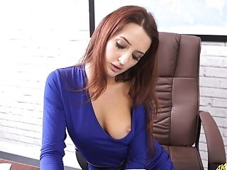 Fabulous Office Assistant Gonna Mesmerize You With Her Sexy Cleverage