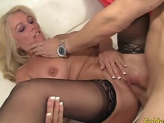 Huge-boobed Blonde Gilf Crystal Taylor Gets Fucked To Perfection