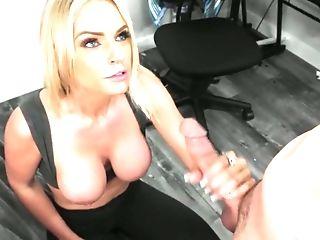 Well Talented Dude Fucks Big Tits And Deep Hatch Of Supah Juggy Blonde Rachael Cavali