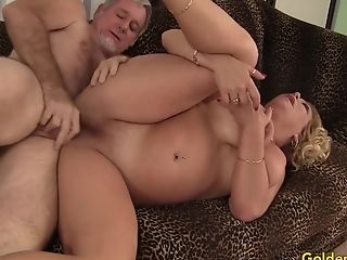 Old Man Screws Blonde Gilf Karen Summers