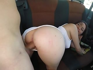 Playful Doll Is Fucking In The Van. She Is Picked Up On The Street
