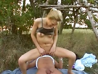 Desirous Blonde Honey With Natural Tits Gives A Oral Pleasure Then Gets Fucked Hard-core Outdoors