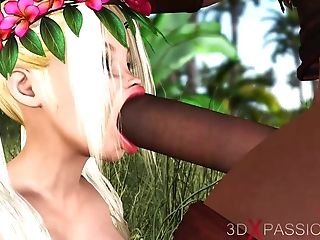 Teenage Cherry Lady Roller Gets Fucked By A Big Black Fuck-stick Outdoor