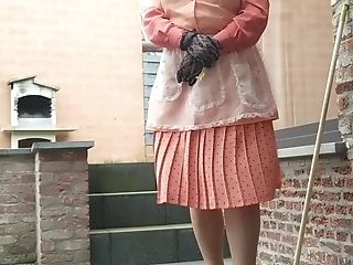 Windy Weather It's Just Brilliant For Wearing A Pleated Microskirt