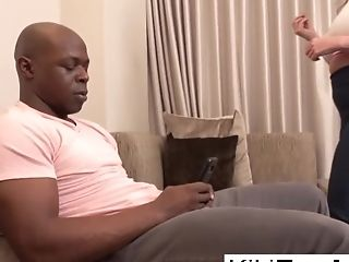 Stepmom Kiki Gets Her Stepson's Attention With A Messy Bj
