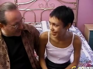 Skinny Brief Haired Latina Honey Strips And Deepthroats An Old Fellow's Fuckpole