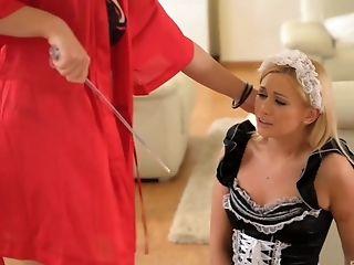 Zafira Klass Fucks Her Maid Lindsey Olsen With A Big Strap On Dildo