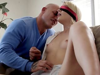 Unsighted Folded Blonde Receives A Tasty Surprise