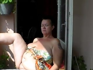 Jen Is All Naked On The Balcony