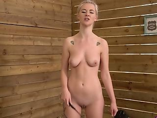 Exotic Light Haired Gal Called Gracie Loves Flashing Her Bum And Hips