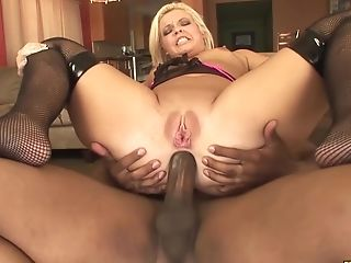 Big Butted Blonde Taking That Big Black Cock Up The Culo