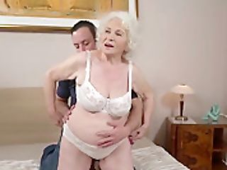 Grandmother Porn Industry Star Norma Fucking A Youthfull Man Two.