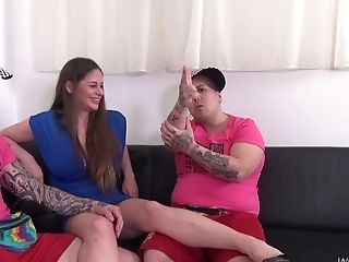 Perverse Hump Threesome With Nasty Brown-haired Cathy Heaven