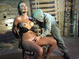 Nice Outdoors Fucking With Tied Up Honey Gabriella With Natural Tits