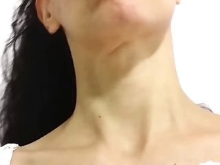 Gigantic Adam's Apple Female Side And Tilt Back