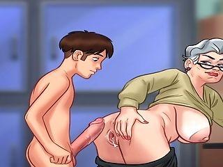 Toon Dude Fucks Chubby Granny