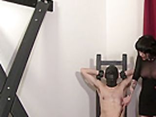 Cock Ball Torture With Railing Crop