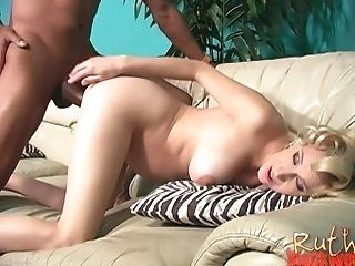 Prego Blonde Beauty Ruth Blackwell Sensuously Pounded By A Black Stud