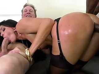 Five Dicks Are Enough To Sate Insatiable Brown-haired