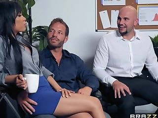 Exotic Office Tart Shay Evans Gets On Her Knees To Suck Her Manager